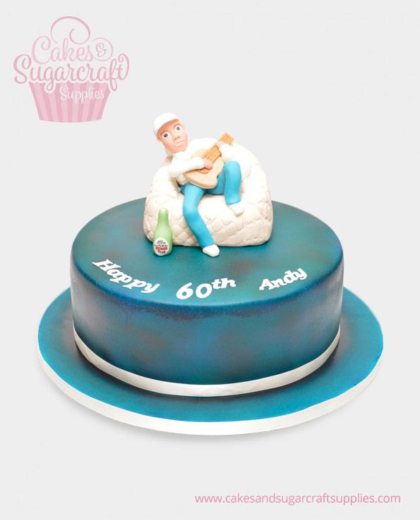 Guitar Andy Birthday Cake